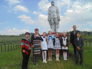 На родине С. Косенкова в Рождественке
